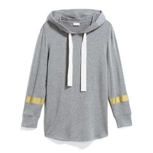Pixley cozy hoodie with gilded sleeve detail